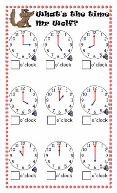 Interactive worksheet Hours