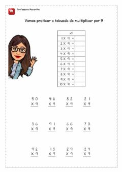 Interactive worksheet Tabuada
