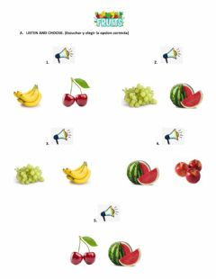Interactive worksheet I like fruits