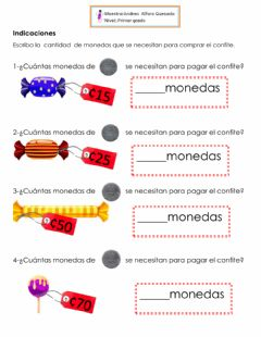 Interactive worksheet La moneda