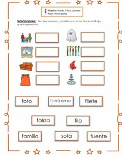 Interactive worksheet Fonema F