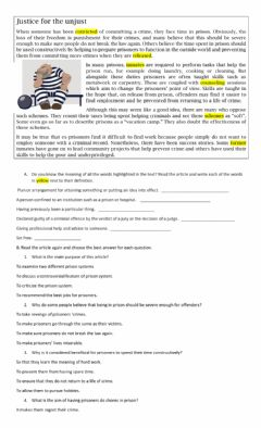 Interactive worksheet Justice