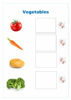 Interactive worksheet Fruits,vegetables and food