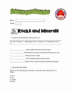 Interactive worksheet Cuestionario Science 3rd grade
