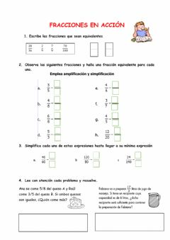 Interactive worksheet Fracciones equivalentes