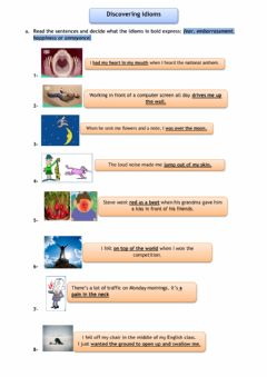 Interactive worksheet Disvovering idioms