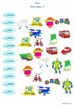 Ficha interactiva Toys. How many?