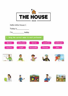 Interactive worksheet Vocabulary: Professions