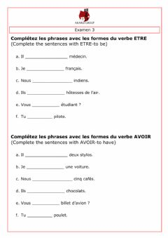 Ficha interactiva French Corporate Training - Test 1 (13-08-2020)