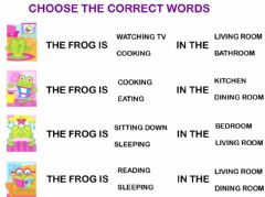 Interactive worksheet What is the frog doing?