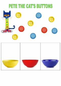 Ficha interactiva Pete the Cat's buttons