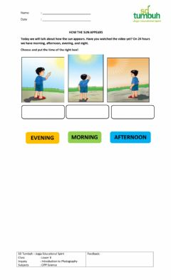 Interactive worksheet Cipp science: how the sun appears 1