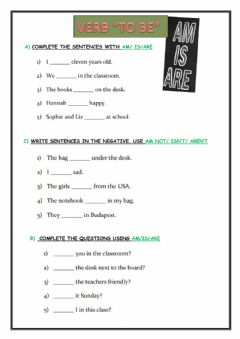 Interactive worksheet Revision to be