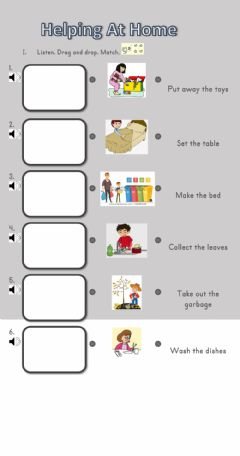 Interactive worksheet Helping At Home
