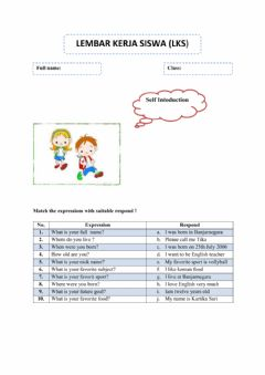 Ficha interactiva Self Introduction