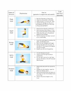 Interactive worksheet Stretches