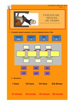 Interactive worksheet Unitats de mesura de temps