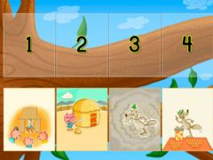 Interactive worksheet Three Little Pigs Sequencing