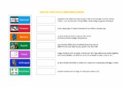 Interactive worksheet Living Things Vocabulary
