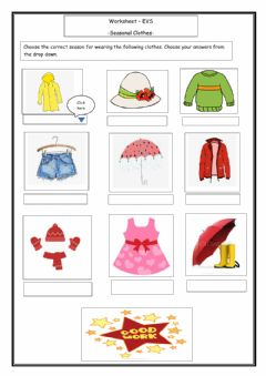 Interactive worksheet Clothes We wear