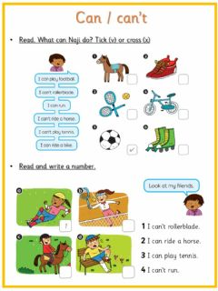 Interactive worksheet Can-Can't - Activities