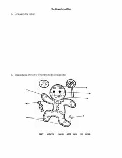 Interactive worksheet The gingerbread man