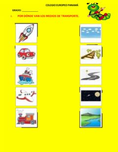 Interactive worksheet Vias y medios de transporte
