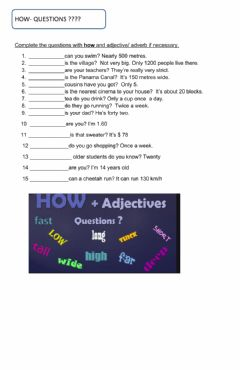 Interactive worksheet How questions