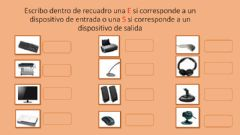 Interactive worksheet Dispositivos de entrada y salida