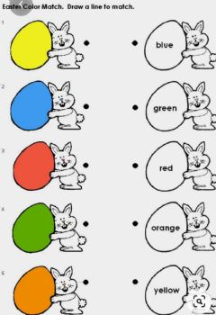 Interactive worksheet Colours name