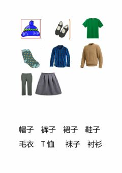 Interactive worksheet Clothing Mandarin