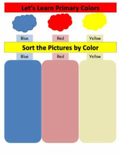 Interactive worksheet Primary colors