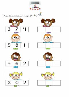 Interactive worksheet Numeración hasta el 10