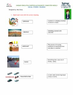 Interactive worksheet The open road