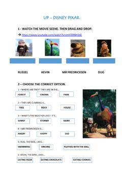 Interactive worksheet Up movie worksheet