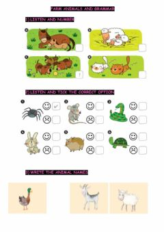 Ficha interactiva Animals -  Can-can't