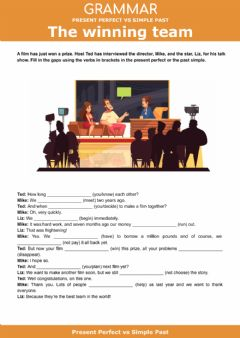 Interactive worksheet Present Perfect vs Simple past - The winning team