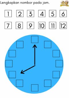 Interactive worksheet Maths : clock