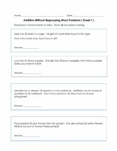 Interactive worksheet Addition Using Whole Numbers