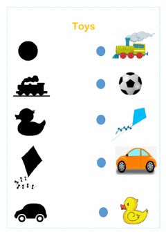Interactive worksheet Toys, prepositions and colors
