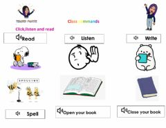 Interactive worksheet Class Commands Everybody Up L1U0