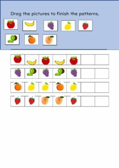 Interactive worksheet Fruit Patterns