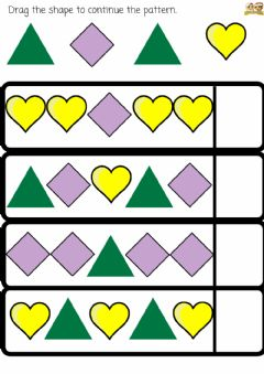Interactive worksheet Sains :Pattern (Shapes and Colour)