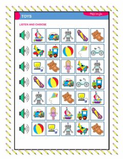 Interactive worksheet TOYS: Listen And Choose