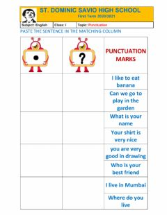 Interactive worksheet Punctuation