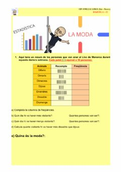 Interactive worksheet Estadística : la moda