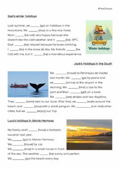 Interactive worksheet Holidays - Past simple