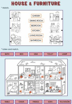 Interactive worksheet House & furniture