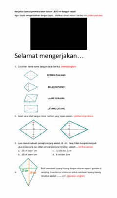 Interactive worksheet Bangun Datar 1