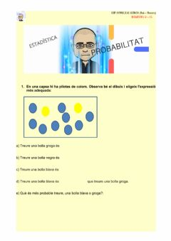 Interactive worksheet Estadística: probabilitat